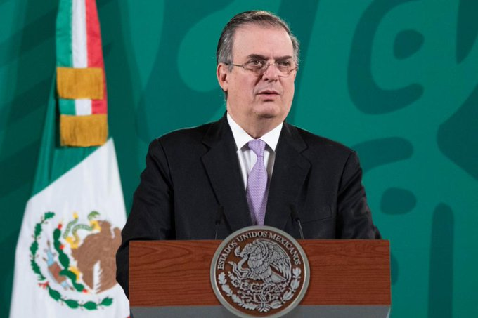 Marcelo Ebrard in the Press conference regarding the re-opening of US borders