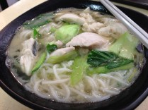 Sliced fish bee hoon soup (yu pian mi fen), an all-time favourite.
