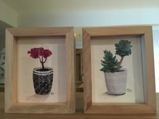 Fell in love with the succulent paintings at first sight.