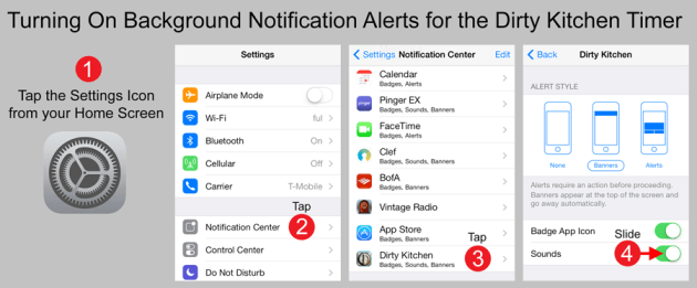 Turning On Sound Notifications in iOS7