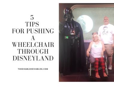 5 Tips For Pushing a Wheelchair Through Disneyland
