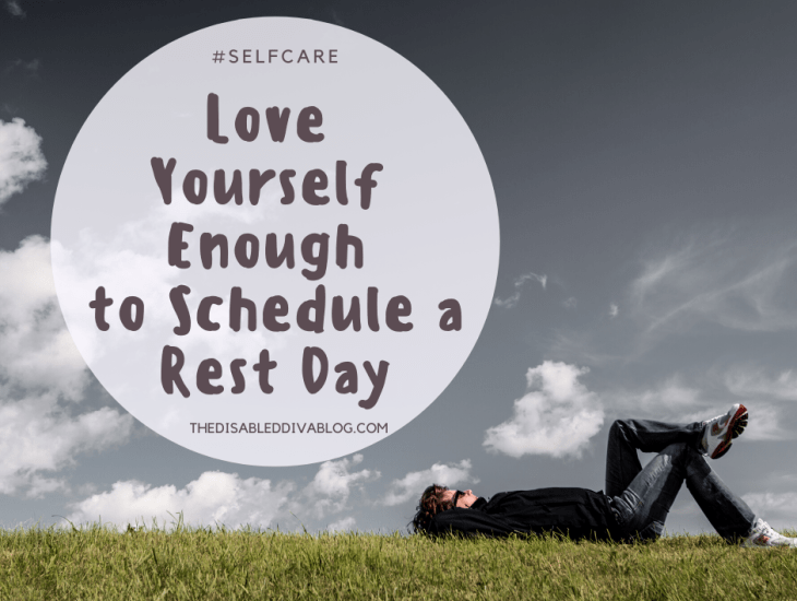 Love yourself enough to schedule a rest day. Self-care tip of the day!