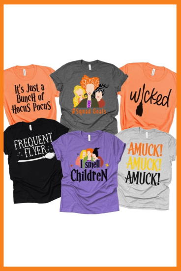 Hocus Pocus themed t-shirts