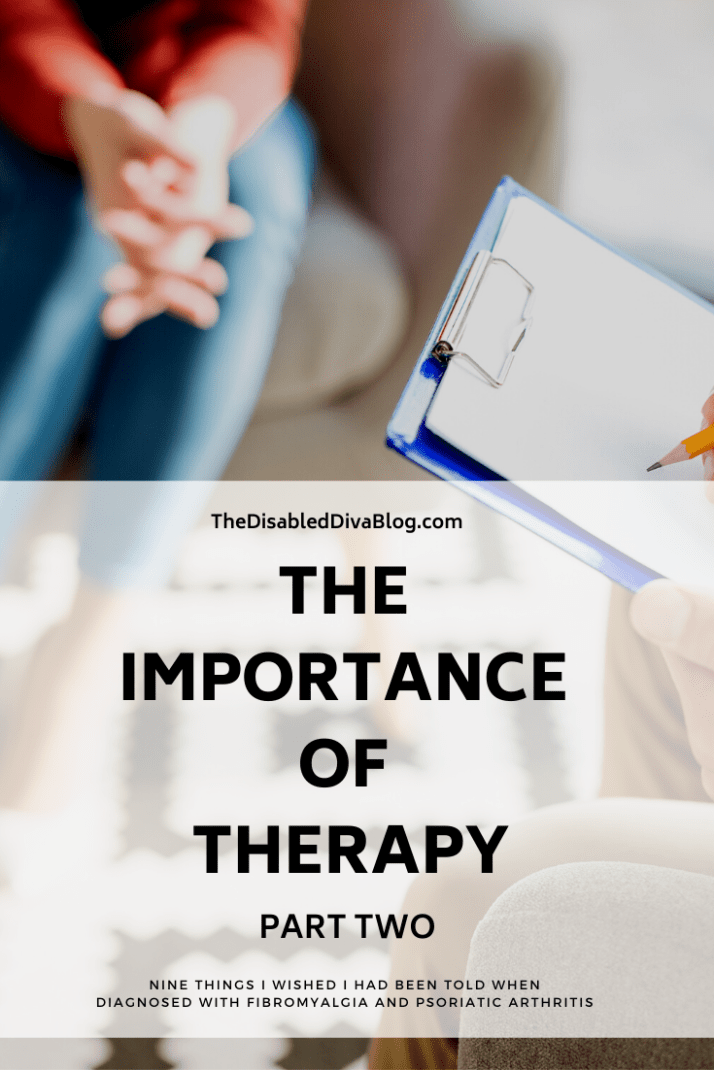 The importance of therapy when you have a chronic illness