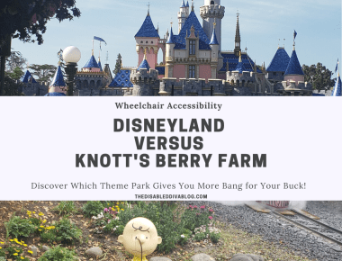Wheelchair accessibility Disneyland versus Knott's Berry Farm