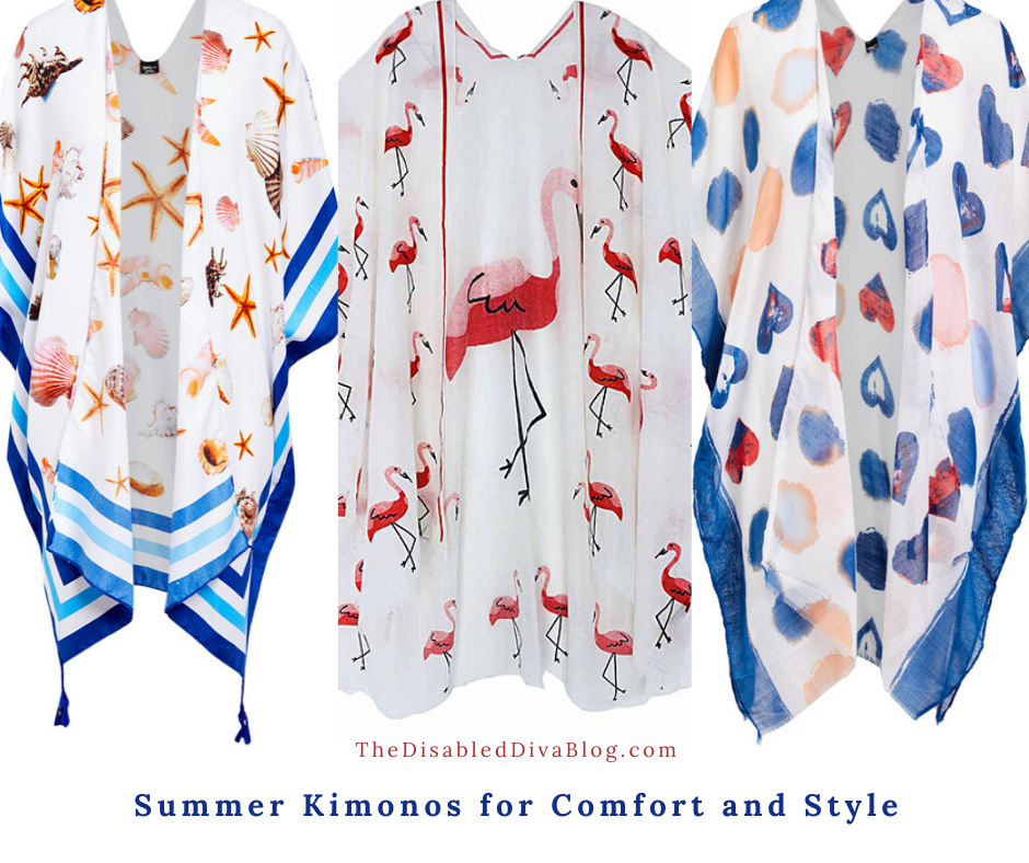 These summer kimonos are a perfect combination of comfort and style! A must-have item whether you have a chronic illness or not!