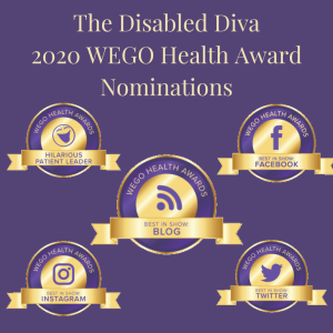 Cynthia Covert The Disabled Diva Wego Health Award Nominations 2020