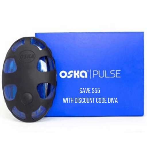Save $55 off of the PEMF therapy pain relief device Oska Pulse when you enter discount code DIVA at checkout.