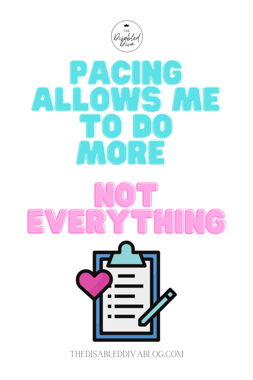 Pacing allows me to do more, not everything!  The Disabled Diva shares six fibromyalgia triggers and how to avoid them.  #chronicpain #fibrolife #chronicillness #fibromyalgiaquote #quote