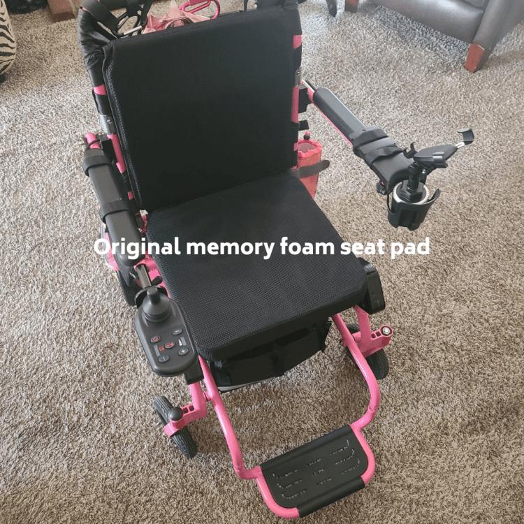 Original memory foam seat pad portable power wheelchair