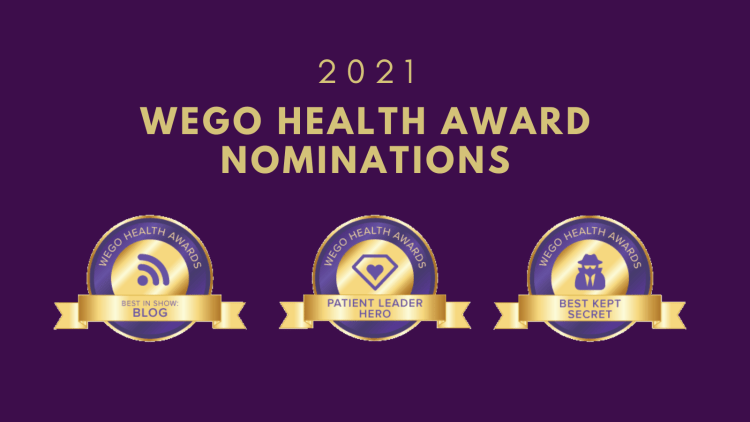 2021 WEGO health award nominations for Cynthia Covert, The Disabled DIva