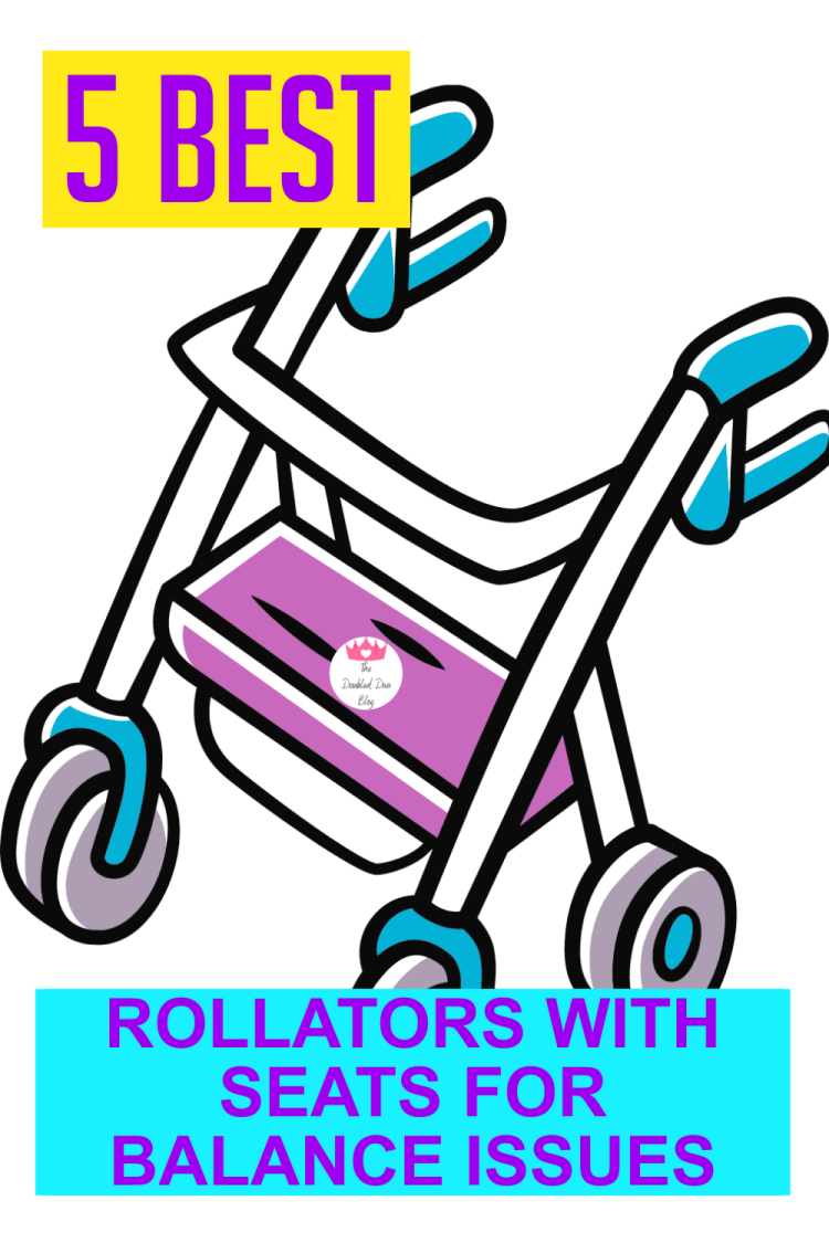The Disabled Diva shares 5 of the best outdoor use rollator walkers with seats for balance issues!