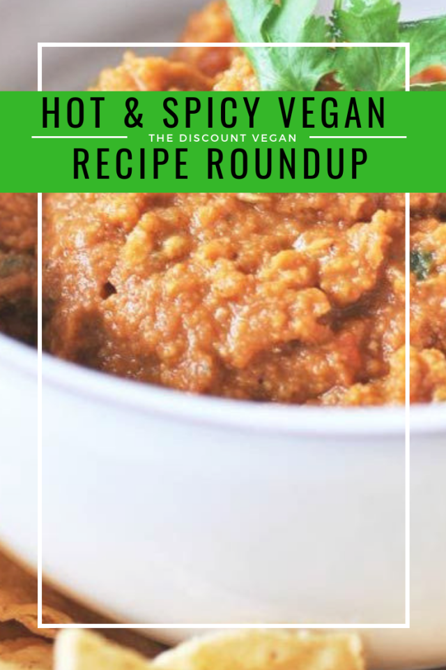 hot & spicy vegan food - round up of spicy recipes - The Discount Vegan
