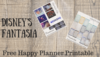 Disney's Fantasia | Free Happy Planner Printable | Making My Home Happy