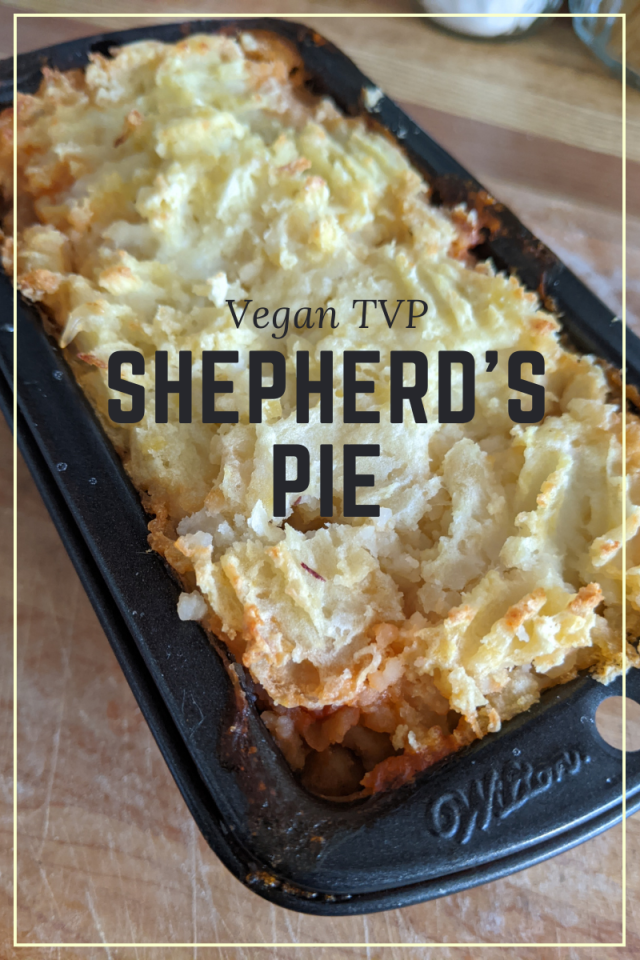 shepherds pie, shepherd's pie, tvp recipes, the discount vegan
