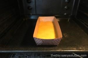 かぼちゃパウンドケーキの生地の土台分を焼きます