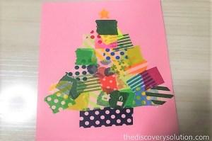 マスキングテープで別バージョンのクリスマスツリーを作ろう