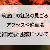 筑波山の紅葉の見ごろ,アクセスや駐車場,混雑状況と服装について!