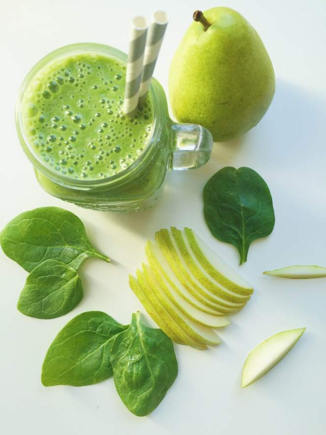 pear green smoothie recipe