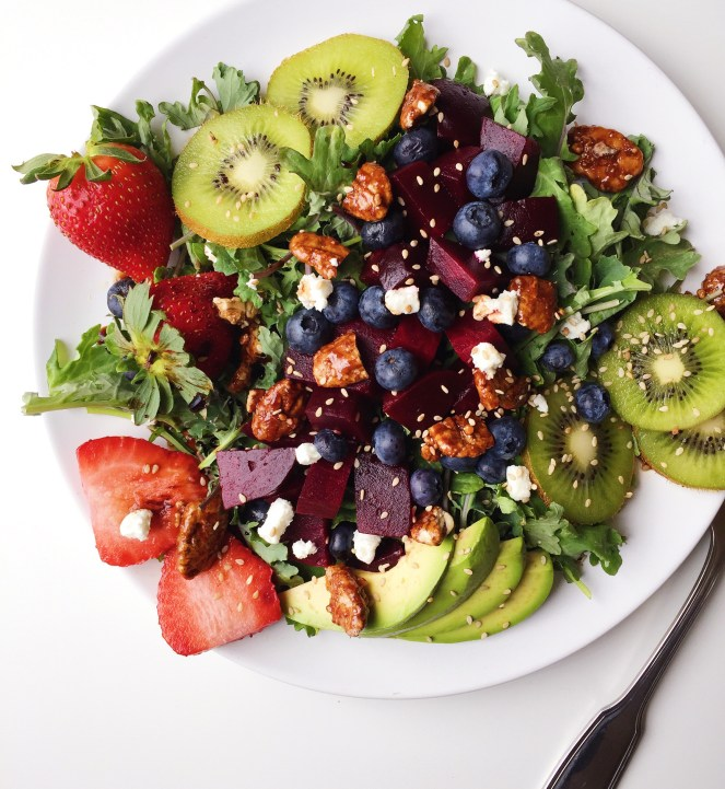 Blueberry, Kiwi, Avocado & Beet Salad