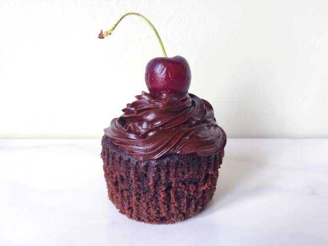 paleo cherry chocolate cupcakes