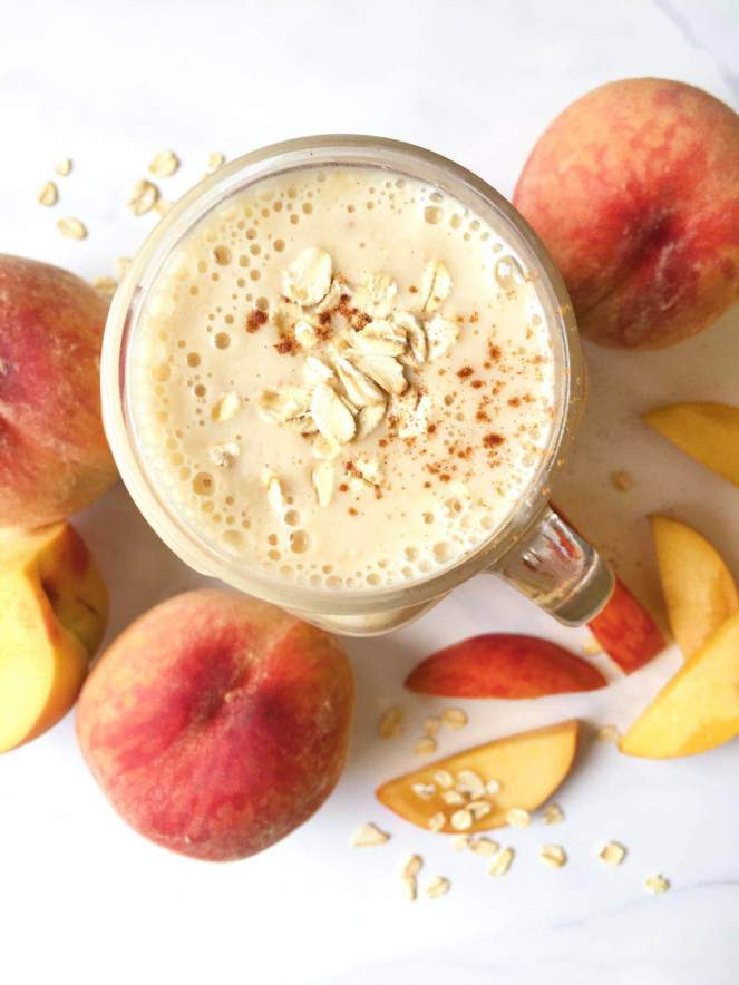 peaches and kefir smoothie