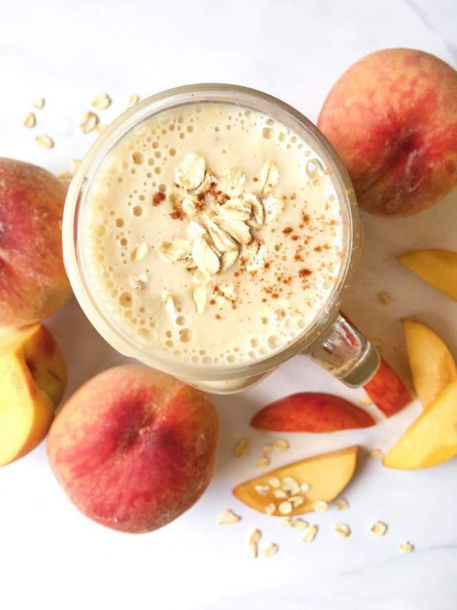 peaches and kefir smoothie