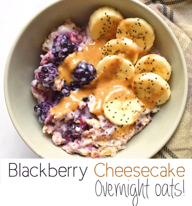 Blackberry Cheesecake Overnight Oats