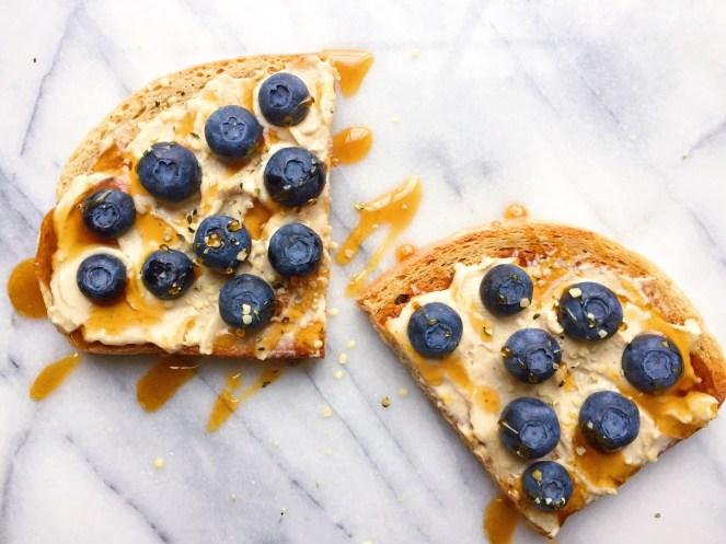 Blueberry Cashew Cheesecake Toast