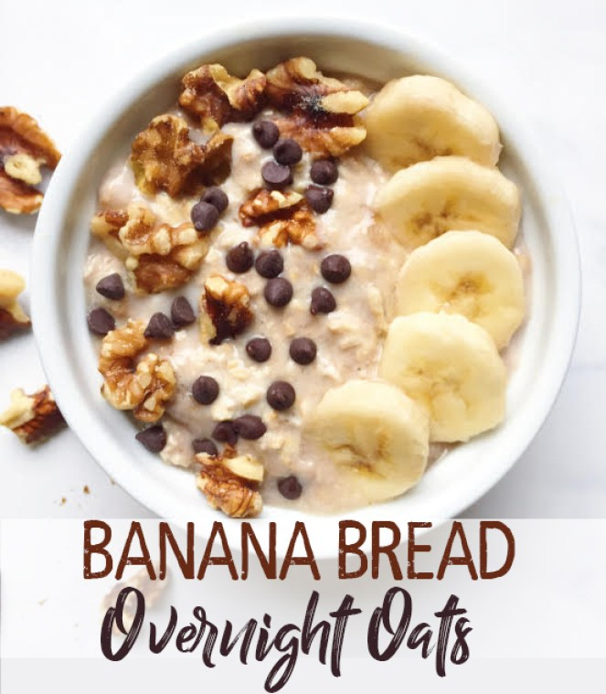 banana bread overnight oats pinterest