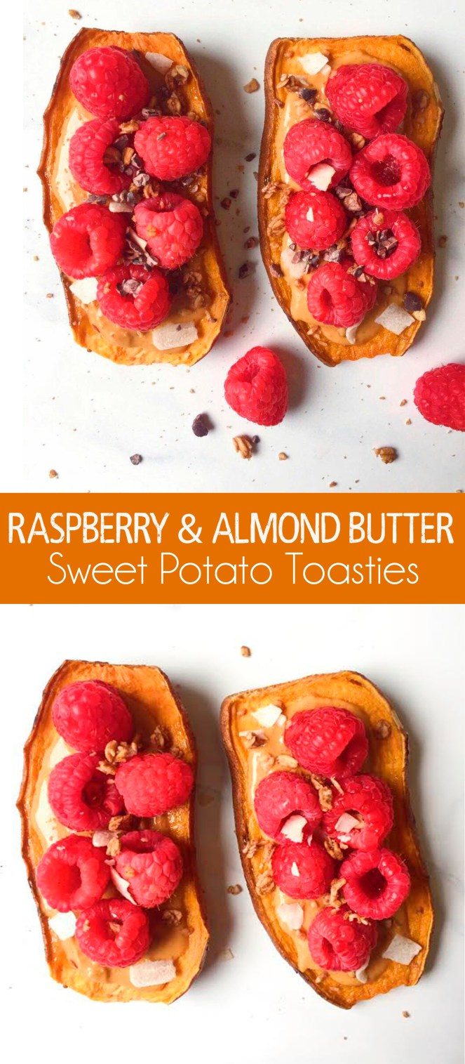 raspberry and almond butter sweet potato toasties PIN