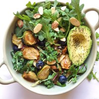 Almond Butter Balsamic Brussels