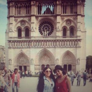 My best friend and I in Paris.
