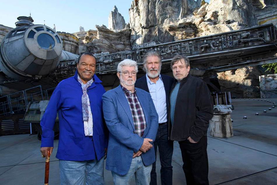 Star Wars Actors Tour Star Wars: Galaxy's Edge at Disneyland Park Ahead of Opening