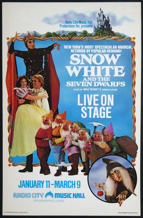 Snow White Live on Stage Poster