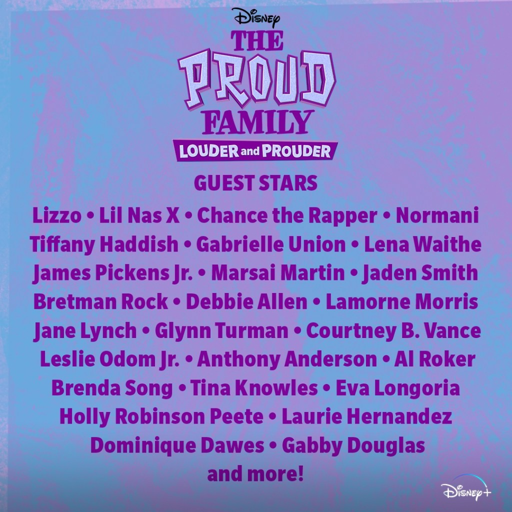 The Proud Family: Louder and Prouder special guests.