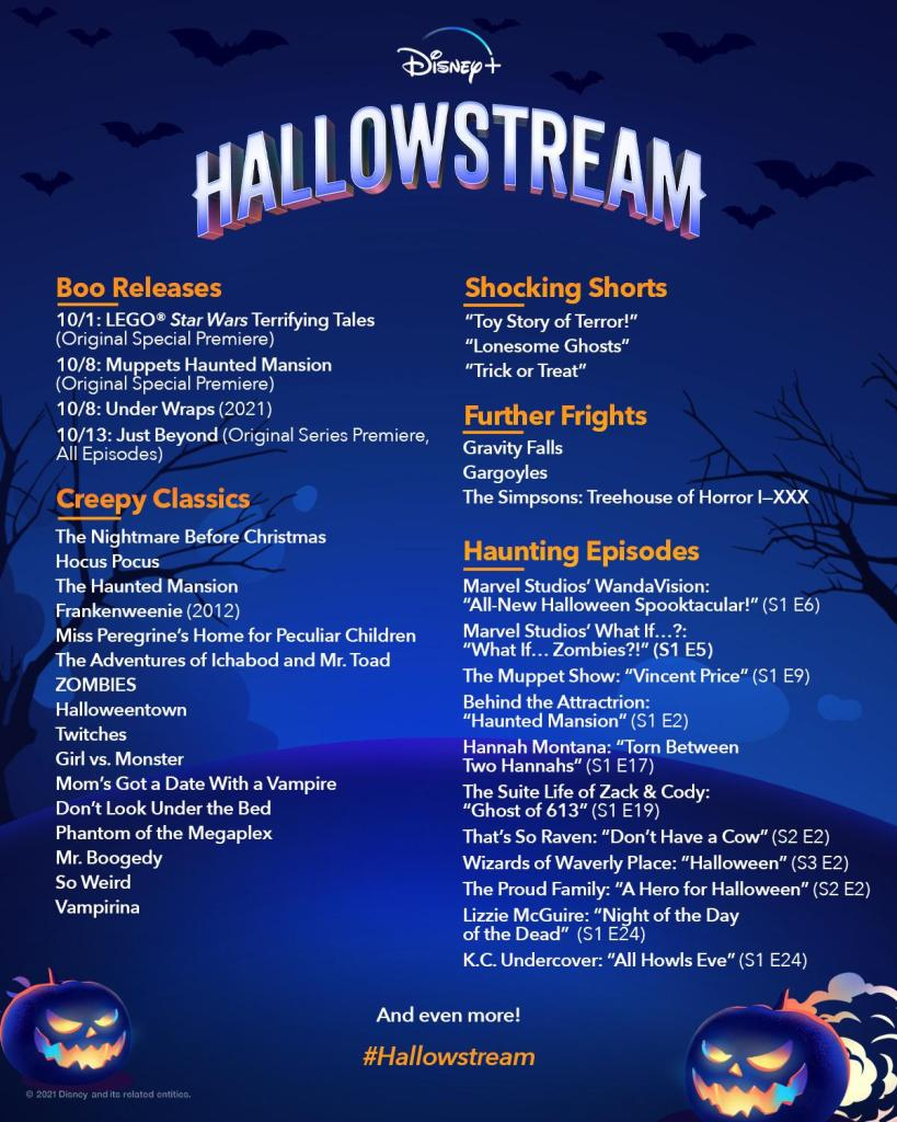 The complete list of Hallowstream content.