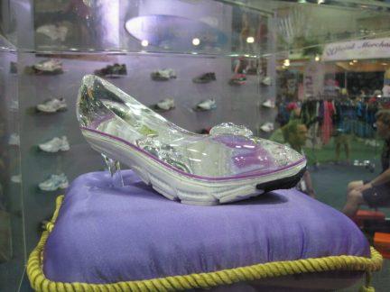 glass slipper running shoe