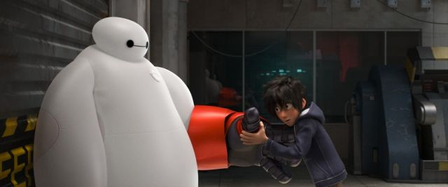 """""""BIG HERO 6""""  TRANSFORMING BAYMAX — When he finds himself in the middle of a dangerous plot unfolding in the streets of San Fransokyo, robotics prodigy Hiro Hamada transforms his closest companion—a robot named Baymax—into a high-tech hero in the action-packed comedy-adventure """"Big Hero 6""""--in theaters Nov. 7, 2014.  ©2014 Disney. All Rights Reserved."""