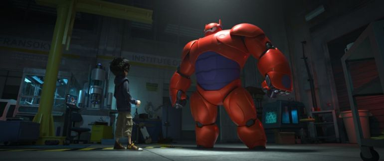 """BIG HERO 6""  HIGH-TECH HERO — Hiro Hamada transforms his closest companion—a robot named Baymax—into a high-tech hero in the action-packed comedy-adventure ""Big Hero 6""--in theaters Nov. 7, 2014.   ©2014 Disney. All Rights Reserved."