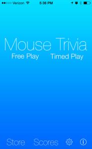 Mouse Trivia app