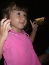 My little girl dancing to the music at Hoop Dee Doo Review