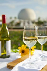 A Taste of The World - More than 33,000 bottles of Champagne and wine from around the world will be uncorked during the annual Epcot International Food & Wine Festival at Walt Disney World Resort in Lake Buena Vista, Fla.  Guests can sip and graze at more than 25 international marketplaces along the park's World Showcase promenade.  Wine seminars, culinary demonstrations and other special programs are available by reservation.  (Matt Stroshane, photographer)