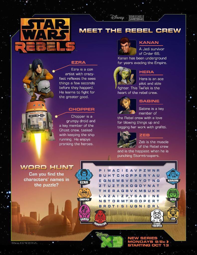 Meet the Rebels Word Hunt