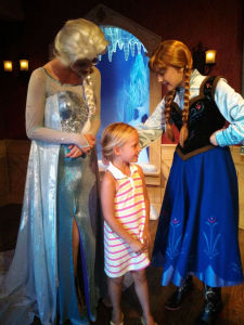 Our youngest loved the chance to meet her favorites from Frozen