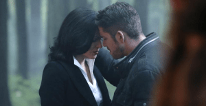 A sad goodbye between Regina and Robin Hood.