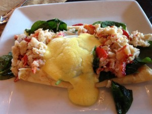 Lobster and Crab crepes.
