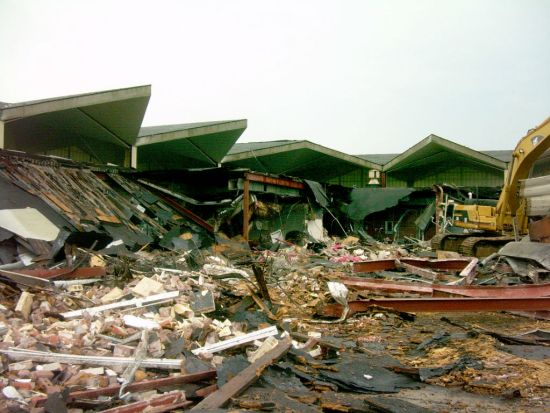 Demolition of the Lake Charles Regional Airport Terminal Building