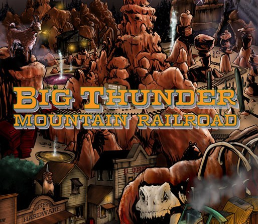 disney kingdom big thunder mountain railroad