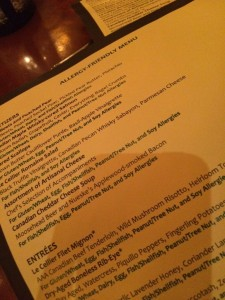 Allergy free menus walt disney world